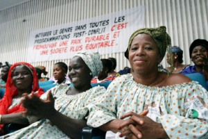 Women in Côte d'Ivoire gather to celebrate International Women's Day in Abidjan. UN Photo/Ky Chung